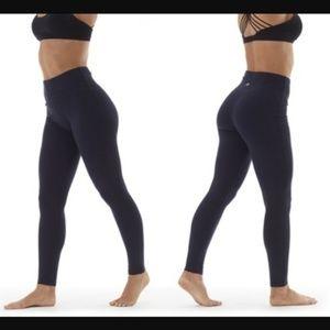 NEW High Waisted Black Leggings Tummy Control Sm.